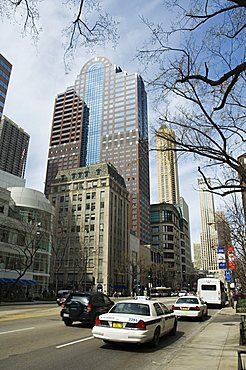 Michigan Avenue or The Magnificent Mile, famous for its shopping, Chicago, Illinois, USA