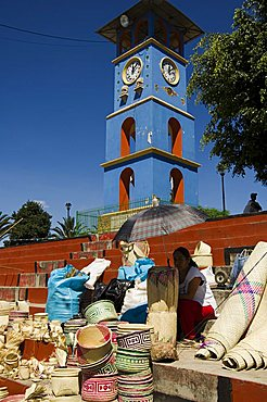 Clock Tower, Zaachila, Oaxaca, Mexico, North America