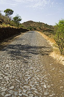 Road in countryside on way to the volcano, Fogo (Fire), Cape Verde Islands, Africa