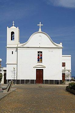 Church on main square at Ponto do Sol, Ribiera Grande, Santo Antao, Cape Verde Islands, Africa