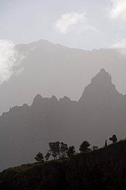 Misty ridges near Corda, Santo Antao, Cape Verde Islands, Africa