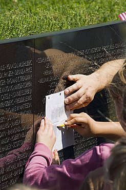 Vietnam Veterans Memorial Wall, Washington D.C. (District of Columbia), United States of America, North America