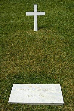 Tomb of Bobby (Robert) Kennedy at Arlington National Cemetery, Arlington, Virginia, United States of America, North America