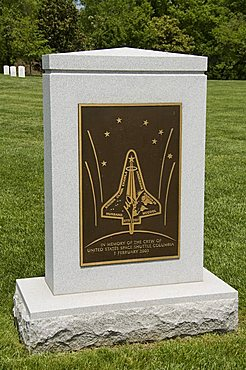 Memorial to the crew of the Space Shuttle Columbia, Arlington National Cemetery, Arlington, Virginia, United States of America, North America