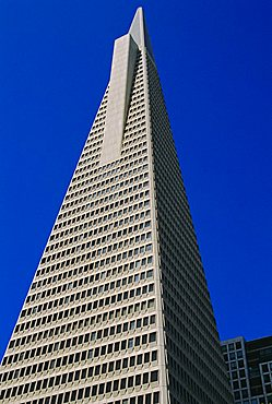 The TransAmerica Pyramid, at 260m the tallest building in San Francisco, California, USA