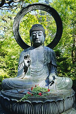 Buddha statue (1790), Japanese Tea Gardens, Golden Gate Park, San Francisco, California, USA
