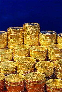 UK money, pound coins