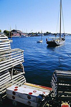 Lobster traps, Living Maritime Museum, Mystic Seaport, Connecticut, USA