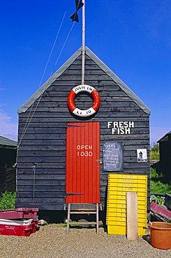 Fisherman's hut, Southwold, Suffolk, England, UK