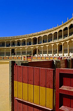 The Plaza de Toros dating from 1784, the oldest bullring in the country, Ronda, Andalucia, Spain