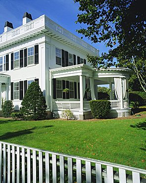Fisher House, an elegant sea captain's house dating from 1840, Martha's Vineyard, Cape Cod, Massachusetts, New England, USA, North America