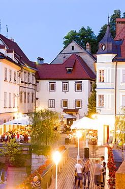 Evening dining, Ljubljana, Slovenia, Europe