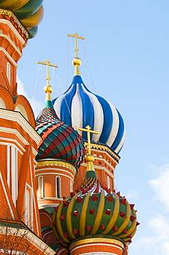 St. Basils Cathedral, Red Square, UNESCO World Heritage Site, Moscow, Russia, Europe
