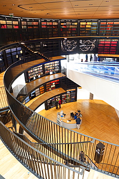 Interior view of The Library of Birmingham, England, United Kingdom, Europe