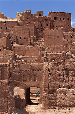 Exterior of the Kasbah at Ait Benhaddou, UNESCO World Heritage Site, Morocco, North Africa, Africa