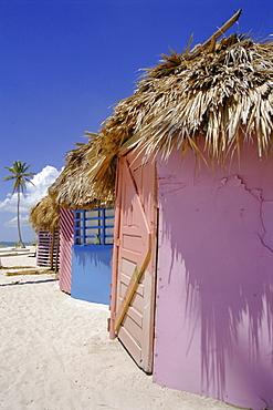 Beach huts, Dominican Republic, Caribbean, West Indies