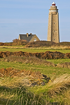 Lighthouse and keepers's house at Cap Levi, Manche, Normandy, France, Europe