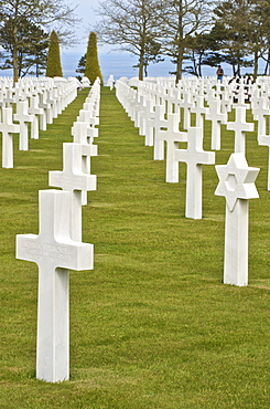 American Cemetery of the Second World War, site of D-Day landings, Colleville-sur-Mer, Calvados, Normandy, France, Europe