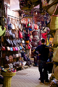 Shops inside the Medina, Marrakech, Morocco, North Africa, Africa