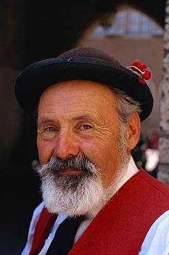 Alsatian man, Colmar, Alsace, France, Europe