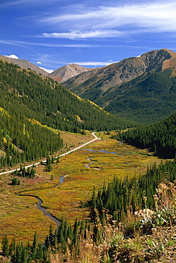 View from Independence Pass, Colorado, United States of America, North America