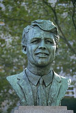 Bust of Robert Kennedy, Brooklyn, New York, United States of America, North America