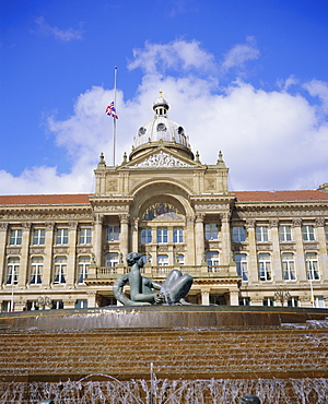 Fountain known as 'Floozy in the Jacuzzi' and the Council House, Victoria Square, Birmingham, England, UK, Europe