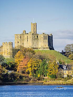The Castle, River Coquet, Warkworth, Northumberland, England, United Kingdom, Europe