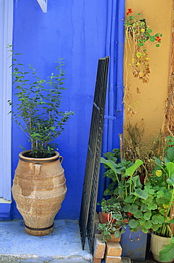 Doorway, Chania, Crete, Greek Islands, Greece, Europe