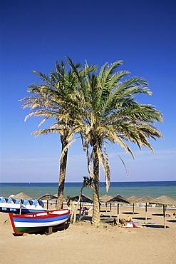 Beach at Estepona, Malaga, Andalucia, Spain, Europe