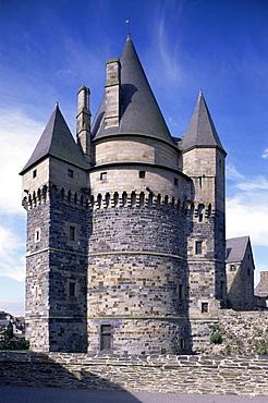 Chateau, Vitre, Ille-et-Vilaine, Brittany, France, Europe