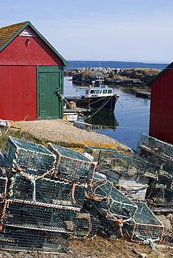 Blue Rocks fishing village, Nova Scotia, Canada, North America