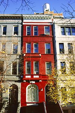 Brownstone, Upper West Side, New York City, New York, United States of America (U.S.A.), North America