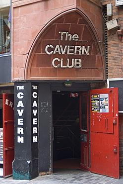 The Cavern Club, Matthew Street, Liverpool, Merseyside, England, United Kingdom, Europe