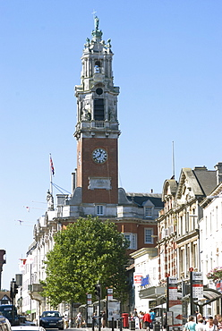 Colchester Town Hall on the High Street, Colchester, Essex, England, United Kingdom, Europe