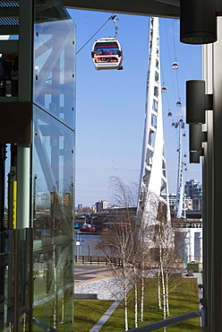 The Emirates Air-line Terminal at North Greenwich, London, SE10, England, United Kingdom, Europe