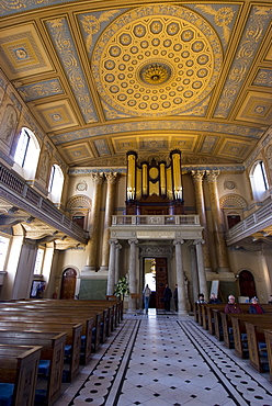The Painted Chapel, redecorated in 1779, Royal Naval College, UNESCO World Heritage Site, Greenwich, London, SE10, England, United Kingdom, Europe
