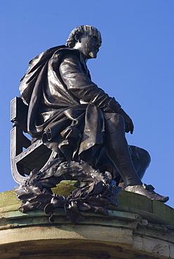 The Victorian statue of William Shakespeare, Stratford upon Avon, Warwickshire, England, United Kingdom, Europe