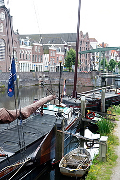 The historic inner city harbour of Delfthaven, Rotterdam, Netherlands, Europe