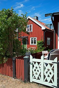 Traditional house on the island of Sandhamn, Stockholm Archipelago, Sweden, Scandinavia, Europe
