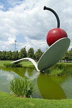 Cherry and Spoonbridge, Claes Oldenburg, Walker Arts Center, Minneapolis, Minnesota, United States of America, North America
