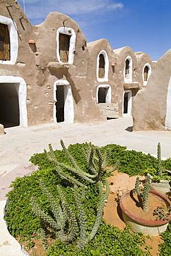 Old Berber grain storage units, recent site of Star Wars film, now a hotel, Ksar Hedada, Tunisia, North Africa, Africa