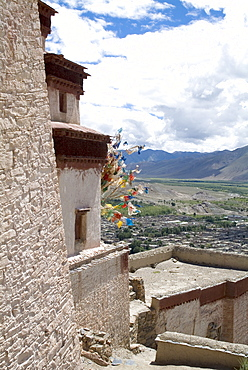 View from Fort, Gyantse, Tibet, China, Asia