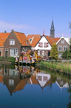 Old fishermen's neighbourhood, Volendam, Ijselmeer, The Netherlands (Holland),  Europe