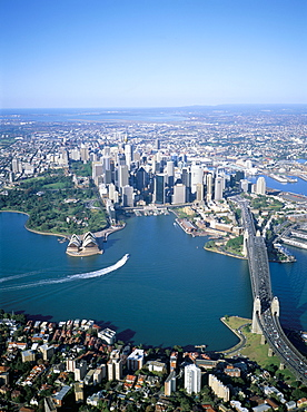 Aerial view of Sydney, New South Wales, Australia, Pacific
