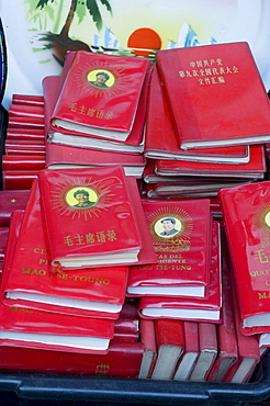 Little red books for sale at the Great flea market, Pan Jia Yuan, Beijing, China, Asia