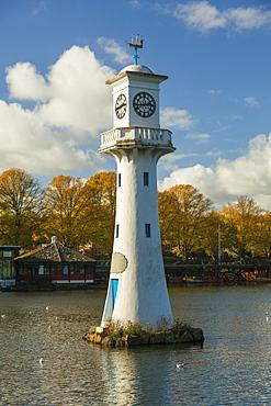 Captain Scott Memorial Lighthouse, Roath Park, Cardiff, Wales, U.K.