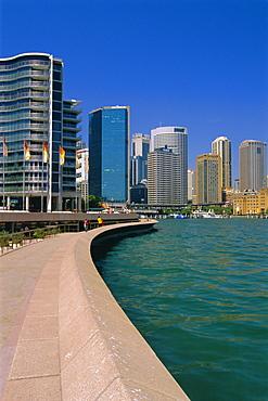Opera Quay and city skyline, Sydney, New South Wales, Australia