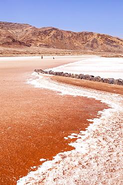 Disused salt pans at Pedra De Lume, Pedra di Lumi, the centre of salt production and trade, Sal Island, Cape Verde, Atlantic, Africa