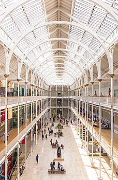 The Grand Gallery of the former Royal Museum, National Museum of Scotland, Edinburgh, Midlothian, Scotland, United Kingdom, Europe